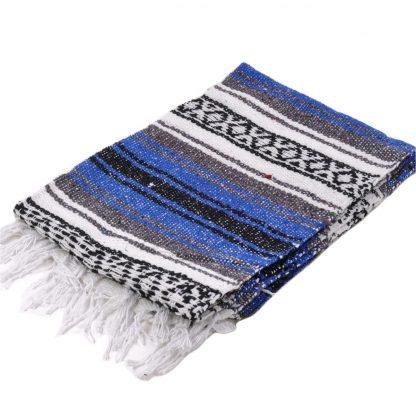 ハーフサイズメキシカンブランケット[ROYAL.BLUE]