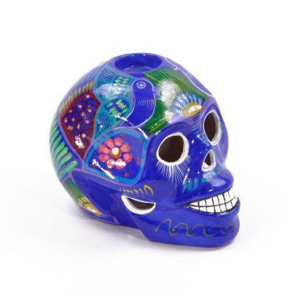 カラベラ/メキシカンスカル/キャンドルホルダー[BLUE]