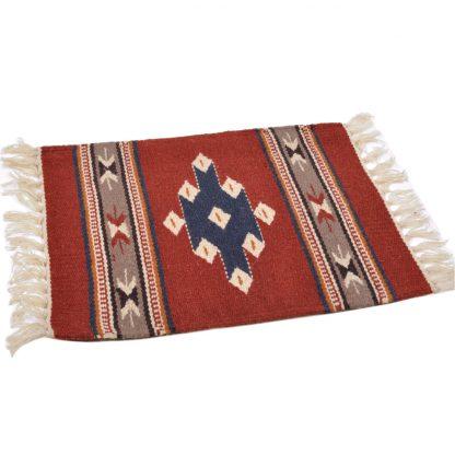 Wool Maya Modern 20X15/ウールラグ素材プレースマット[04.RUST/NAVY]