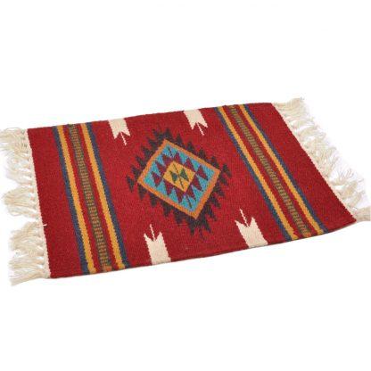 Wool Maya Modern 20X15/ウールラグ素材プレースマット[10.BURGUNDY]