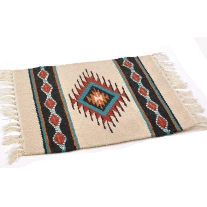 Wool Maya Modern 20X15/ウールラグ素材プレースマット[11.NATURAL/CHARCOAL]