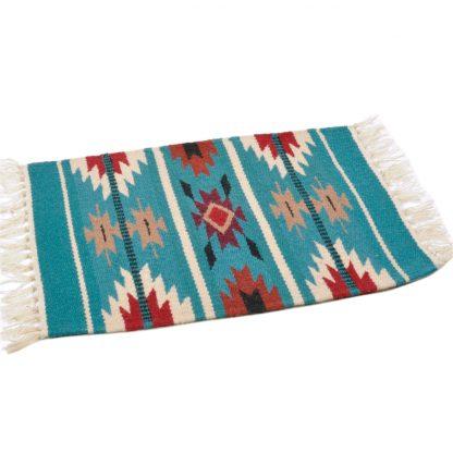 Wool Maya Modern 20X15/ウールラグ素材プレースマット[12.TURQUOISE]
