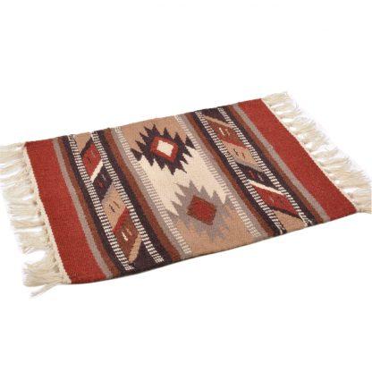 Wool Maya Modern 20X15/ウールラグ素材プレースマット[14.NATURAL/BROWN]