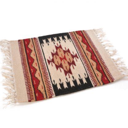 Wool Maya Modern 20X15/ウールラグ素材プレースマット[02.NATURAL/BEIGE]