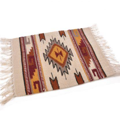 Wool Maya Modern 20X15/ウールラグ素材プレースマット[03.NATURAL/TAN]