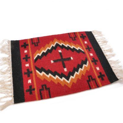 Wool Maya Modern 20X15/ウールラグ素材プレースマット[07.RED/BLK]