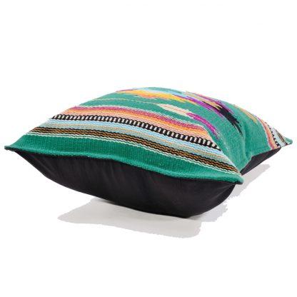 Cabo/チマヨ柄ラグ素材クッションカバー
