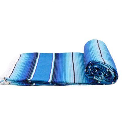 レトロカラーサラペブランケット[BLUE/AQUA]