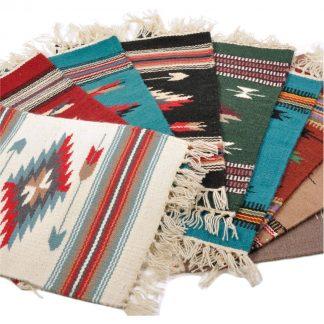 Wool Chimayo Style/ウールラグ素材プレースマット 20X15