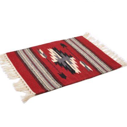 Wool Chimayo Style/ウールラグ素材プレースマット 20X15[BURGUNDY]