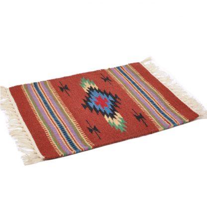 Wool Chimayo Style/ウールラグ素材プレースマット 20X15[BROWN]