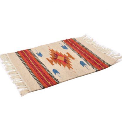 Wool Chimayo Style/ウールラグ素材プレースマット 20X15[OATMEAL]