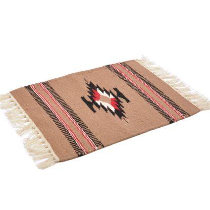 Wool Chimayo Style/ウールラグ素材プレースマット 20X15[TAUPE]