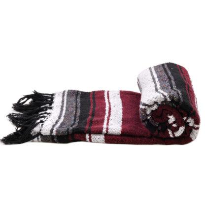 エコノミーメキシカンブランケット/Stripe[BURGUNDY]