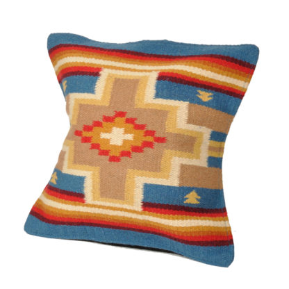 Wool Maya Modern/ウールラグ素材クッションカバー[21.DENIM/BEIGE]