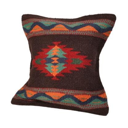 Wool Maya Modern/ウールラグ素材クッションカバー[22.DK.BROWN]